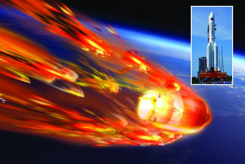 चीनको अनियन्त्रित रकेट हिन्द महासागरमा खस्यो