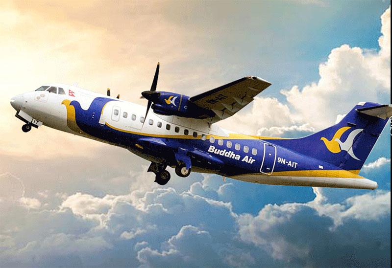 धनगढी उडेको बुद्ध एयरको जहाज काठमाडौंमा आपतकालीन अवतरण